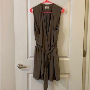 Olive Belted Vest